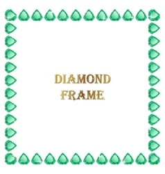 Emerald square frame vector