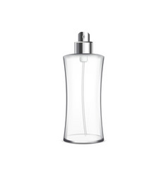 Empty cosmetic bottle with sprayer vector