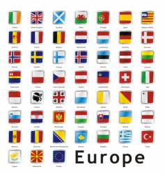 European flags vector image