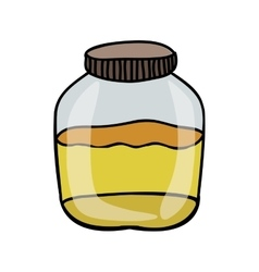 filled jar icon image vector image