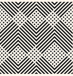 geometric pattern with diagonal lines squares vector image