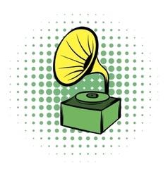 Gramophone comics icon vector image vector image