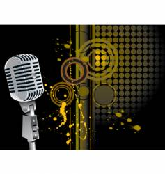 grunge mic vector image vector image