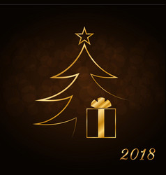 happy new year celebration background gold xmas vector image