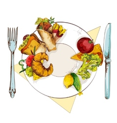 Healthy and unhealthy food vector