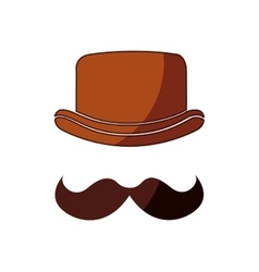 Hipster style hat accessory isolated icon vector
