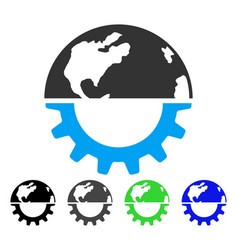 International industry flat icon vector