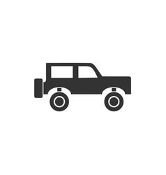 jeep travel icon flat vector image