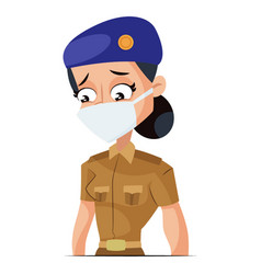 lady police vector image