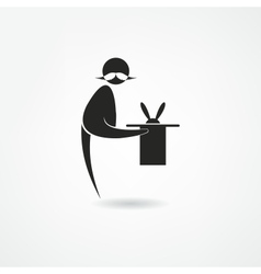 Magician icon vector