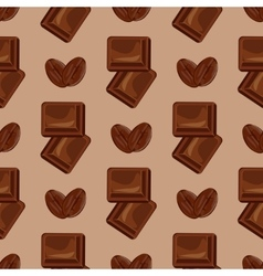 Milk chocolate seamless pattern vector image