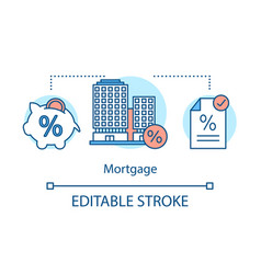 Mortgage interest rates concept icon vector