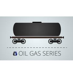 Oil tank wagon vector image