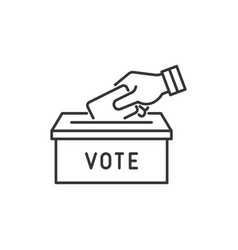 political election and vote icons set vector image