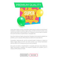 premium quality hot prices promo sticker balloons vector image