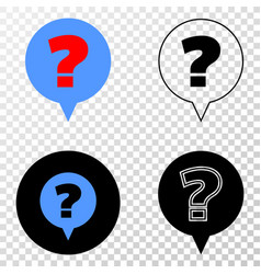 question eps icon with contour version vector image