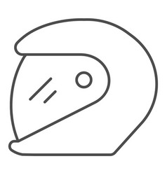 Racing helmet thin line icon motorcycle helmet vector