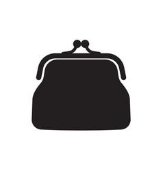 retro purse for coins coin wallet icon vector image