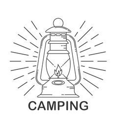 rustic camping lantern vector image