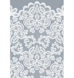 seamless gray lace vector image