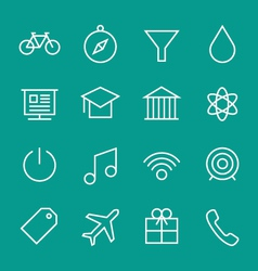 Set of web line icons 2 vector image