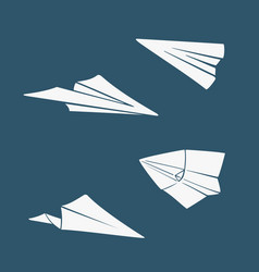 set symbols paper airplane vector image