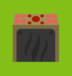 Slot machine icon isolated on background flat vector