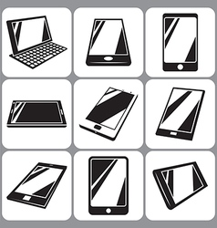 smartphone and tablet icons set vector image