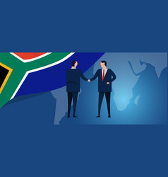 south africa international partnership diplomacy vector image