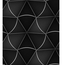 Striped Black White Circle Cone 3d Seamless vector image