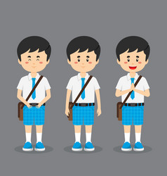 Student character with expression vector