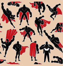 Superhero in action seamless pattern vector