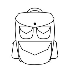 Travel backpack icon image vector