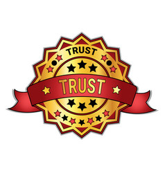 trust badge or sticker isolated on white vector image