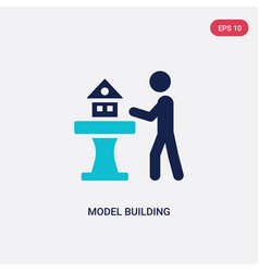 two color model building icon from activity and vector image