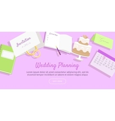 Wedding Planning Web Banner Preparations vector