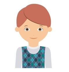 young man male isolated vector image