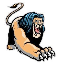 crawling lion mascot vector image
