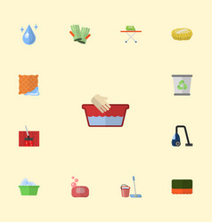 flat icons wisp washcloth aqua and other vector image vector image