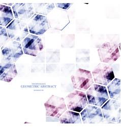 Geometric technological various hexagon digital vector