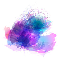 imitation of strokes with a watercolor brush of vector image