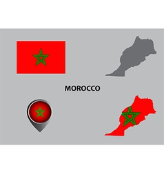 Map of Morocco and symbol vector image
