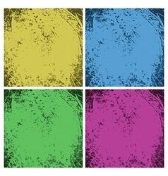 Set of dirty vintage grunge backgrounds vector image vector image