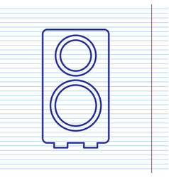 speaker sign navy line icon vector image vector image