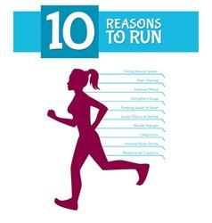 10 top reasons to run vector image vector image