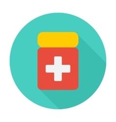 Drug flat icon vector image