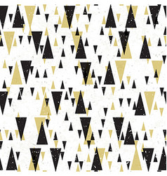Geometric seamless pattern Gold and black vector image vector image