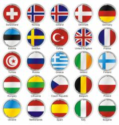 round flags vector image