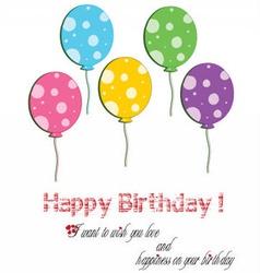 happy birthday balloon five year old vector image