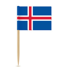 iceland flag toothpick 10eps vector image